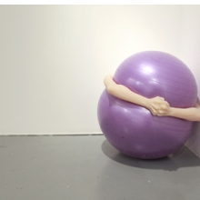 Kristof Wickman (American, b. 1981). Self-Portrait, 2010. Neoprene ball, cast silicone. 35 × 35 × 35 in. (88.9 × 88.9 × 88.9 cm). © the artist; courtesy of the artist