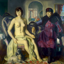 <p>George Wesley Bellows (American, 1882–1925). <em>Two Women</em>, 1924. Oil on canvas, 57 × 60 in. (144.8 × 152.4 cm). Portland Museum of Art, Maine, Lent by Karl Jaeger, Tamara Jaeger, and Karena Jaeger, 26.2004. © Bellows Trust</p>