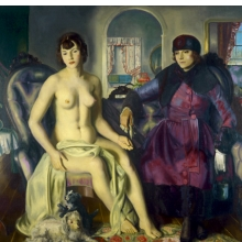 <p>George Wesley Bellows (American, 1882&ndash;1925). <em>Two Women</em>, 1924. Oil on canvas, 57 &times; 60 in. (144.8 &times; 152.4 cm). Portland Museum of Art, Maine, Lent by Karl Jaeger, Tamara Jaeger, and Karena Jaeger, 26.2004. &copy; Bellows Trust</p>