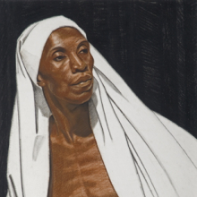 <p>Winold Reiss (American, 1886–1953). <em>Black Prophet</em>, 1925. Pastel on Whatman board, 30 × 22 in. (76.2 × 55.9 cm). Private collection. © The Reiss Trust</p>