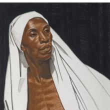 <p>Winold Reiss (American, 1886&ndash;1953). <em>Black Prophet</em>, 1925. Pastel on Whatman board, 30 &times; 22 in. (76.2 &times; 55.9 cm). Private collection. &copy; The Reiss Trust</p>