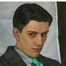 Luigi Lucioni (American, 1900–1988). Paul Cadmus, 1928. Oil on canvas, 16 × 121⁄8 in. (40.6 × 30.8 cm). Brooklyn Museum, Dick S. Ramsay Fund, 2007.28