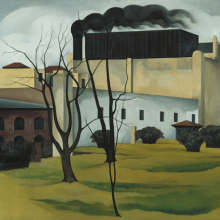 <p>George Copeland Ault (American, 1891–1948). <em>Brooklyn Ice House</em>, 1926. Oil on canvas, 24 × 30 in. (61 × 76.2 cm). Newark Museum, Purchase 1928 The General Fund, 28.1760</p>