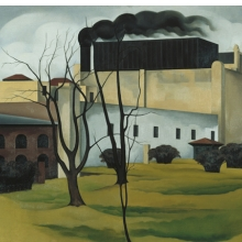 <p>George Copeland Ault (American, 1891&ndash;1948). <em>Brooklyn Ice House</em>, 1926. Oil on canvas, 24 &times; 30 in. (61 &times; 76.2 cm). Newark Museum, Purchase 1928 The General Fund, 28.1760</p>
