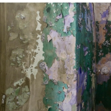<p>Naomi Safran-Hon (Israeli, b. England, 1984). <i>Absent Present: Wadi Salib 18 (Green Wall)</i>, 2012. Archival inkjet print, lace, and cement on canvas and fabric, 62<sup>1</sup>⁄<sub>2</sub> x 60 in. (158.8 &#215; 152.4 cm). Courtesy of the artist and Slag Gallery. © 2012 Naomi Safran-Hon</p>