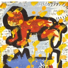 <p>Keith Haring (American, 1958–1990). Flyer for <i>Des Refusés</i> at Westbeth Painters Space, New York City, February 10, 1981. Acrylic and ink on paper. Collection Keith Haring Foundation. © Keith Haring Foundation</p>