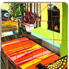 <p>Mickalene Thomas (American, b. 1971). <i>Interior: Two Chairs and Fireplace</i>, 2011. Mixed-media collage. Collection of Pamela K. and William A. Royall, Jr., Richmond, Virginia</p>