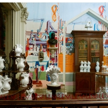 <p>Ann Agee (American, b. 1959). <em>Agee MFG Co. Brooklyn Outlet Store</em>, 2012. Various media. Courtesy of the artist and Locks gallery with special thanks to the John Simon Guggenheim Memorial Fellowship, in the <em>Colonel Robert J. Milligan House Library</em>, Saratoga, NY</p>