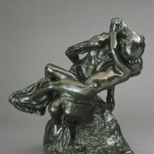<p>Auguste Rodin (French, 1840–1917). <i>Youth Triumphant (La Jeunesse triomphante)</i>, 1896; cast date unknown (after 1898). Bronze, 20<sup>1</sup>⁄<sub>2</sub> x 18 × 12<sup>3</sup>⁄<sub>4</sub> in. (52.1 × 45.7 × 32.4 cm). Brooklyn Museum, Gift of the Iris and B. Gerald Cantor Foundation, 84.210.2</p>