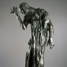 <p>Auguste Rodin (French, 1840–1917). <i>Pierre de Wissant, Monumental (Pierre de Wissant, monumental)</i>, 1887; cast 1979. Bronze, 84<sup>5</sup>⁄<sub>8</sub> x 46 × 39 in. (214.9 × 116.8 × 99.1 cm). Brooklyn Museum, Gift of Iris and B. Gerald Cantor, 84.243</p>