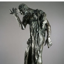 <p>Auguste Rodin (French, 1840&ndash;1917). <i>Pierre de Wissant, Monumental (Pierre de Wissant, monumental)</i>, 1887; cast 1979. Bronze, 84<sup>5</sup>&frasl;<sub>8</sub> x 46 &times; 39 in. (214.9 &times; 116.8 &times; 99.1 cm). Brooklyn Museum, Gift of Iris and B. Gerald Cantor, 84.243</p>