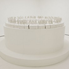 <p>Rachel Kneebone (British, b. 1973). <i>The Descent</i>, 2008. Porcelain, h. 4.9 ft. (1.5 m); w. to viewing edge approx. 11.5 ft. (3.5 m). Collection of the artist and White Cube, London. © The artist. Photo: Stephen White, Courtesy White Cube</p>