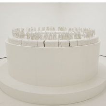 <p>Rachel Kneebone (British, b. 1973). <i>The Descent</i>, 2008. Porcelain, h. 4.9 ft. (1.5 m); w. to viewing edge approx. 11.5 ft. (3.5 m). Collection of the artist and White Cube, London. &copy; The artist. Photo: Stephen White, Courtesy White Cube</p>
