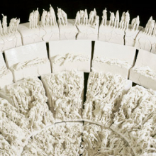 <p>Rachel Kneebone (British, b. 1973). <i>The Descent</i> (detail), 2008. Porcelain, h. 4.9 ft. (1.5 m); w. to viewing edge approx. 11.5 ft. (3.5 m). Collection of the artist and White Cube, London. © The artist. Photo: Stephen White, Courtesy White Cube</p>