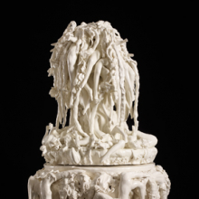 <p>Rachel Kneebone (British, b. 1973). <i>The Paradise of Despair</i>, 2011. Porcelain, 37<sup>3</sup>&frasl;<sub>8</sub> x 23<sup>5</sup>&frasl;<sub>8</sub> x 24<sup>7</sup>&frasl;<sub>16</sub> in. (95 &times; 60 &times; 62 cm). &copy; the artist. Photo: Stephen White. Courtesy of White Cube</p>