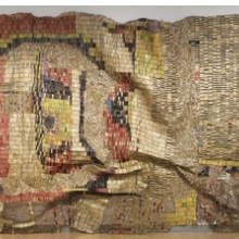 El Anatsui (Ghanaian, b. 1944). Earth's Skin, 2007. Aluminum and copper wire, 177 × 394 in. (449.6 × 1000.8 cm). Courtesy of Guggenheim Abu Dhabi
