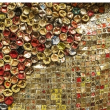 <p>El Anatsui (Ghanaian, b. 1944). <i>Gli (Wall)</i> (detail), 2010. Aluminum and copper wire, installation at the Brooklyn Museum, dimensions variable. Courtesy of the artist and Jack Shainman Gallery, New York. Brooklyn Museum photograph</p>