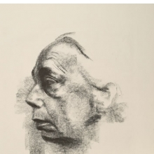 <p>K&auml;the Kollwitz (German, 1867&ndash;1945). <em>Self Portrait (Selbstbildnis)</em>, 1927. Lithograph on thin China paper, 24<sup>7</sup>&frasl;<sub>8</sub> x 17<sup>15</sup>&frasl;<sub>16</sub> in. (63.2 &times; 45.6 cm). Brooklyn Museum, Museum Collection Fund, 39.15. &copy; 2012 Artists Rights Society (ARS), New York/VG Bild-Kunst, Bonn</p>