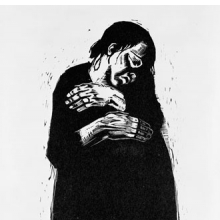 <p>K&auml;the Kollwitz (German, 1867&ndash;1945). <em>The Widow I (Die Witwe I)</em>, 1922&ndash;23. Woodcut on heavy Japan paper, 26 &times; 18<sup>11</sup>&frasl;<sub>16</sub> in. (66 &times; 47.5 cm). Brooklyn Museum, Carll H. de Silver Fund, 44.201.4. &copy; 2012 Artists Rights Society (ARS), New York/VG Bild-Kunst, Bonn</p>