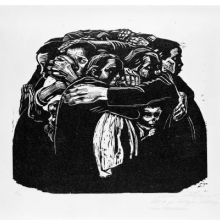 Käthe Kollwitz (German, 1867–1945). The Mothers (Die Mütter), 1922–23. Woodcut on heavy Japan paper, 1813⁄16 x 259⁄16 in. (47.8 × 64.9 cm). Brooklyn Museum, Carll H. de Silver Fund, 44.201.6. © 2012 Artists Rights Society (ARS), New York/VG Bild-Kunst, Bonn