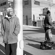 <p>LaToya Ruby Frazier (American, b. 1982). <i>Grandma Ruby and U.P.M.C. Braddock Hospital on Braddock Avenue</i>, 2007. Gelatin silver photograph, 20 × 24 in. (50.8 × 61 cm). Courtesy of the artist. © LaToya Ruby Frazier</p>