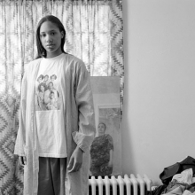 <p>LaToya Ruby Frazier (American, b. 1982). <i>Huxtables, Mom and Me</i>, 2009. Gelatin silver photograph, 15 × 19<sup>1</sup>⁄<sub>4</sub> in. (38.1 × 48.9 cm). Brooklyn Museum, Emily Winthrop Miles Fund, 2011.63.3. © LaToya Ruby Frazier</p>