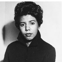Unknown photographer. Portrait of dramatist Lorraine Hansberry, circa 1950s. Gelatin silver print. Photographs and Prints Division, Schomburg Center for Research in Black Culture, The New York Public Library, Astor, Lenox and Tilden Foundations