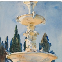 <p>John Singer Sargent (American, 1856–1925). <i>In a Medici Villa</i>, 1906. Translucent watercolor and touches of opaque watercolor with graphite underdrawing, 21<sup>3</sup>⁄<sub>16</sub> x 14<sup>3</sup>⁄<sub>8</sub> in. (53.8 &#215; 36.5 cm). Brooklyn Museum, Purchased by Special Subscription, 09.826</p>