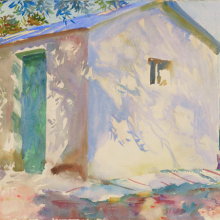 <p>John Singer Sargent (American, 1856–1925). <i>Corfu: Lights and Shadows</i>, 1909. Translucent and opaque watercolor with graphite underdrawing, 15<sup>7</sup>⁄<sub>8</sub> x 20<sup>7</sup>⁄<sub>8</sub> in. (40.3 × 53 cm). Museum of Fine Arts, Boston, The Hayden Collection—Charles Henry Hayden Fund. Photograph © 2013 Museum of Fine Arts, Boston</p>