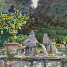 <p>John Singer Sargent (American, 1856–1925). <i>Villa di Marlia, Lucca: A Fountain</i>, 1910. Translucent watercolor and touches of opaque watercolor and wax resist with graphite underdrawing, 15<sup>7</sup>⁄<sub>8</sub> x 20<sup>7</sup>⁄<sub>8</sub> in. (40.4 × 53.1 cm). Museum of Fine Arts, Boston, The Hayden Collection—Charles Henry Hayden Fund. Photograph © 2013 Museum of Fine Arts, Boston</p>