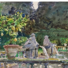<p>John Singer Sargent (American, 1856–1925). <i>Villa di Marlia, Lucca: A Fountain</i>, 1910. Translucent watercolor and touches of opaque watercolor and wax resist with graphite underdrawing, 15<sup>7</sup>⁄<sub>8</sub> x 20<sup>7</sup>⁄<sub>8</sub> in. (40.4 &#215; 53.1 cm). Museum of Fine Arts, Boston, The Hayden Collection—Charles Henry Hayden Fund. Photograph © 2013 Museum of Fine Arts, Boston</p>