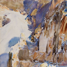 <p>John Singer Sargent (American, 1856–1925). <i>Carrara: A Quarry</i>, 1911. Translucent and opaque watercolor and wax resist with graphite underdrawing, 20<sup>15</sup>⁄<sub>16</sub> x 15<sup>3</sup>⁄<sub>4</sub> in. (53.2 × 40 cm). Museum of Fine Arts, Boston, The Hayden Collection—Charles Henry Hayden Fund. Photograph © 2013 Museum of Fine Arts, Boston</p>