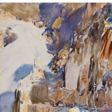 <p>John Singer Sargent (American, 1856–1925). <i>Carrara: A Quarry</i>, 1911. Translucent and opaque watercolor and wax resist with graphite underdrawing, 20<sup>15</sup>⁄<sub>16</sub> x 15<sup>3</sup>⁄<sub>4</sub> in. (53.2 &#215; 40 cm). Museum of Fine Arts, Boston, The Hayden Collection—Charles Henry Hayden Fund. Photograph © 2013 Museum of Fine Arts, Boston</p>