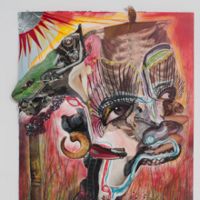 <p>Wangechi Mutu (Kenyan, b. 1972). <i>Family Tree</i>, 2012. One from a suite of thirteen mixed-media collages on paper, 20 × 14<sup>1</sup>⁄<sub>2</sub> inches (50.8 × 36.2 cm). Nasher Museum of Art at Duke University. Museum purchase with additional funds provided by Trent Carmichael, Blake Byrne, Marjorie and Michael Levine, Stefanie and Douglas Kahn, and Christen and Derek Wilson, 2013.1.1. Image courtesy of Susanne Vielmetter Los Angeles Projects. © Wangechi Mutu. (Photo: Robert Wedemeyer)</p>