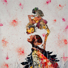 <p>Wangechi Mutu (Kenyan, b. 1972). <i>Misguided Little Unforgivable Hierarchies</i>, 2005. Ink, acrylic, collage, contact paper on Mylar, 81 &times; 52 inches (205.7 &times; 132.1 cm). San Francisco Museum of Modern Art, Purchase through a gift of the Buddy Taub Foundation, Jill and Dennis Roach, directors, 2005.184. Image courtesy of Susanne Vielmetter Los Angeles Projects. &copy; Wangechi Mutu. (Photo: Joshua White)</p>