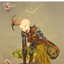 <p>Wangechi Mutu (Kenyan, b. 1972). <i>Riding Death in My Sleep</i>, 2002. Ink, collage on paper, 60 &#215; 44 inches (152.4 &#215; 111.76 cm). Collection of Peter Norton, New York. © Wangechi Mutu</p>