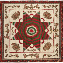 <p><i>Star of Bethlehem Quilt</i>, circa 1830. Cotton, 95 × 95<sup>1</sup>⁄<sub>2</sub> in. (241.3 × 242.6 cm). Brooklyn Museum, Gift of Alice Bauer Frankenberg, 59.151.7. Brooklyn Museum photograph. Photo by Gavin Ashworth, 2012</p>