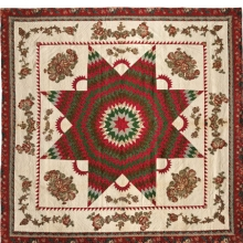 <p><i>Star of Bethlehem Quilt</i>, circa 1830. Cotton, 95 &#215; 95<sup>1</sup>⁄<sub>2</sub> in. (241.3 &#215; 242.6 cm). Brooklyn Museum, Gift of Alice Bauer Frankenberg, 59.151.7. Brooklyn Museum photograph. Photo by Gavin Ashworth, 2012</p>