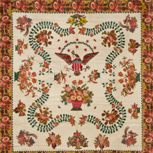 Elizabeth Welsh. Medallion Quilt, circa 1830. Cotton, 1101⁄2 x 109 in. (280.7 × 267.8 cm). Brooklyn Museum, Gift of The Roebling Society, 78.36