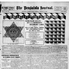 <p>&ldquo;Home-Made Quilts of U.S. Represent $675,000,000 in Labor.&rdquo; <i>The Pensacola Journal</i>. February 24, 1907. Library of Congress, Chronicling America, Washington, D.C.</p>