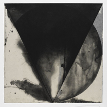 <p>Shoichi Ida (Japanese, 1941–2006).<i> Between Vertical and Horizon—Descended Triangle No. 6</i>, 1987. Color aquatint, sheet: 26 × 22<sup>5</sup>⁄<sub>8</sub> in. (66 × 57.5 cm). Brooklyn Museum, Gift of Nancy Genn, 1991.215.9. © Estate of Shoichi Ida</p>