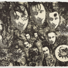 <p>Kiki Smith (American, b. Germany, 1954). <i>Untitled</i> from <i>Banshee Pearls</i>, 1991. Lithograph, 22<sup>1</sup>⁄<sub>2</sub> x 30<sup>1</sup>⁄<sub>2</sub> in. (57.2 × 77.5 cm). Brooklyn Museum, Emily Winthrop Miles Fund, 1999.17.3. © Kiki Smith</p>