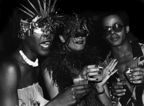 <p>Rose Hartman: <em>Bethann Hardison, Daniela Morera, and Stephen Burrows at Studio 54</em>, 1978</p>