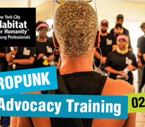 <p>AFROPUNK Advocacy Training photograph of trainer and audience</p>