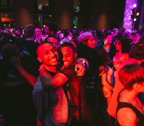 <p>Partygoers at the Brooklyn Museum, 2019</p>