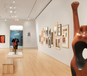 <p>Installation view, We Wanted a Revolution: Black Radical Women, 1965-85, Brooklyn Museum</p>