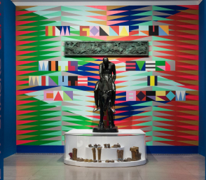 <p>Installation view, <em>Jeffrey Gibson: When Fire Is Applied to a Stone It Cracks</em></p>