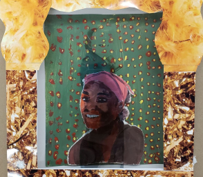 <p>A multimedia artwork by a Brooklyn Museum student</p>