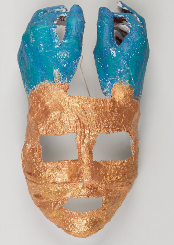 <p>A mask made by a Brooklyn Museum student</p>