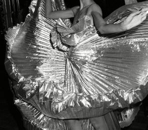<p>Guy Marineau: <em>Pat Cleveland on the dance floor during Halston's disco bash at Studio 54</em>, 1977</p>